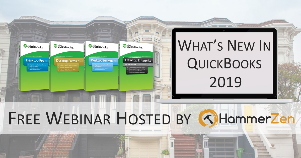 SJREIA | What's New and Improved for QuickBooks Desktop 2019